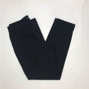 Theory front pocket black straight leg pants